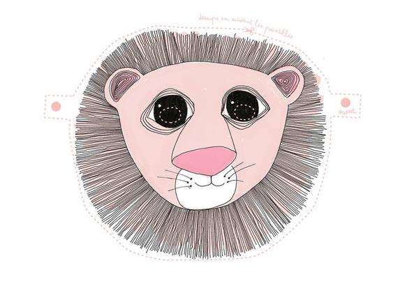 DIY Printable Lion Mask