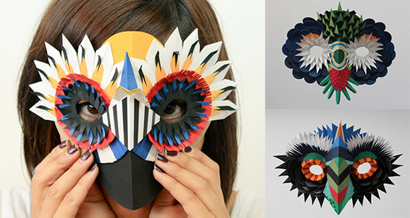 Paper Cutout Masks