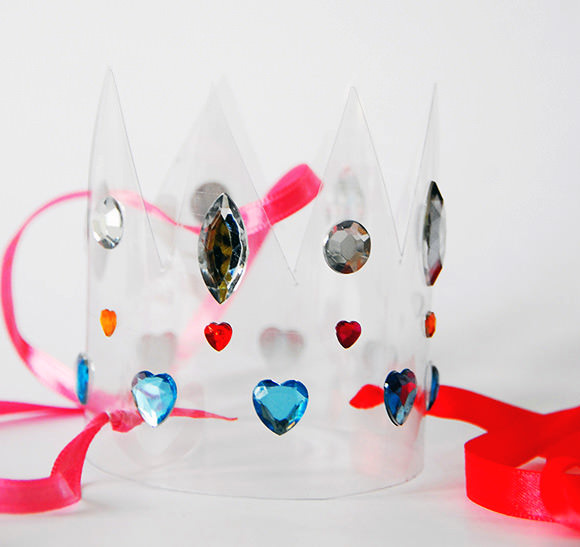 DIY Recycled Water Bottle Crown