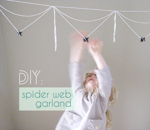 diy spiderweb garland diy spider web garland