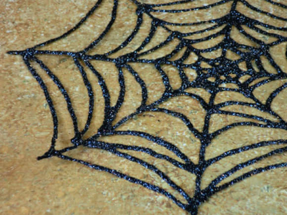 DIY Glitter Glue Spiderweb