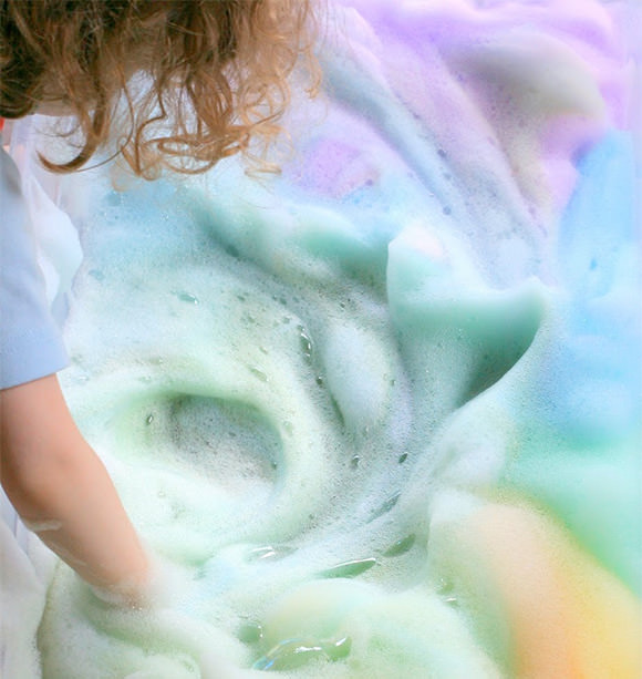 DIY Rainbow Soap Foam Sensory Craft for Toddlers