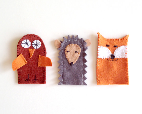 DIY Forest Friends Finger Puppets