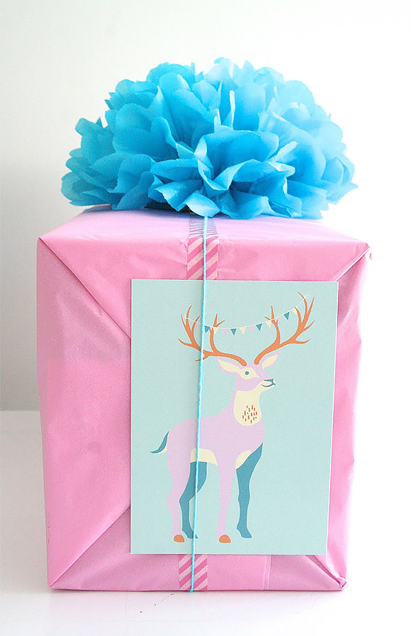 12 clever gift wrapping techniques handmade charlotte diy gift wrap ideas tissue paper pom pom negle Image collections