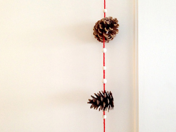 DIY Pine Cone Trees & Garland