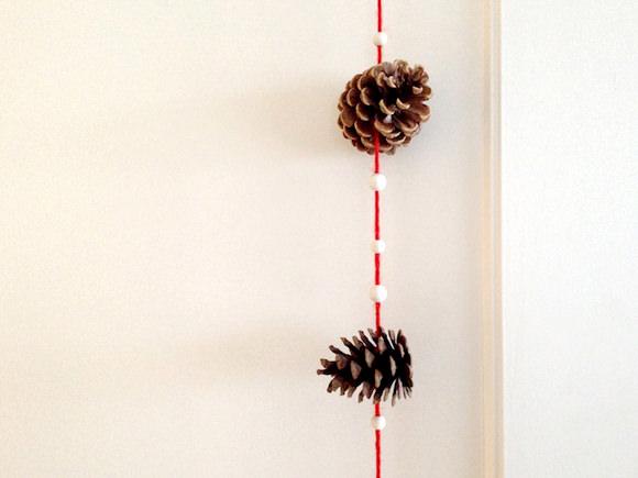 DIY Pine Cone Trees & Garland