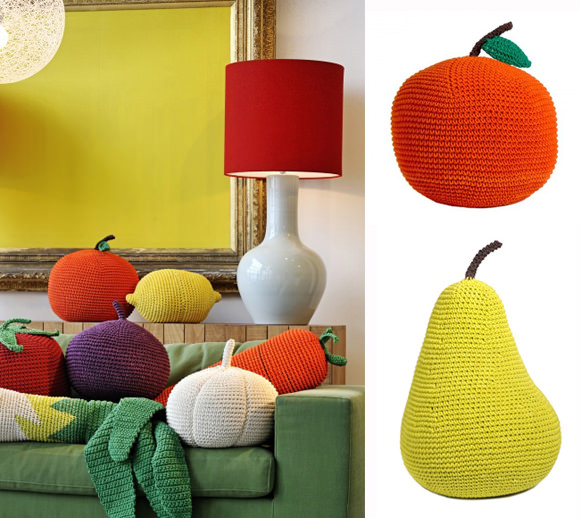 Giant Crochet Fruit & Veggies