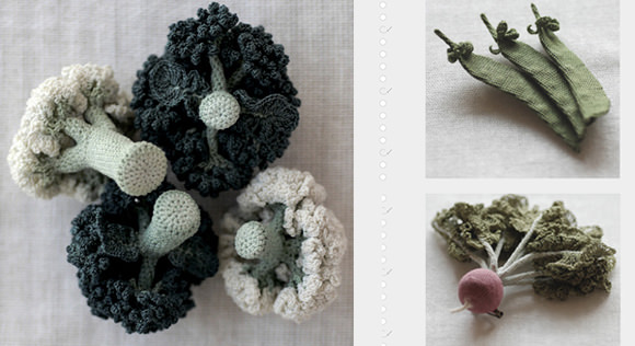 Crochet Veggie Jewelry