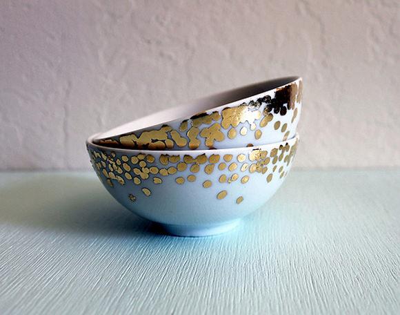 DIY Gold Confetti Bowls