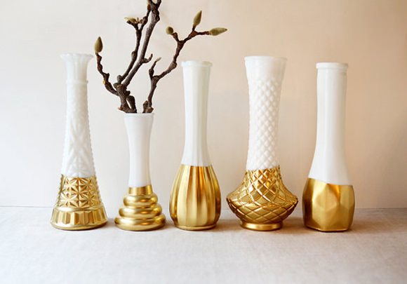 7 diy projects for a gilded table handmade charlotte - Gold home decor accessories paint ...
