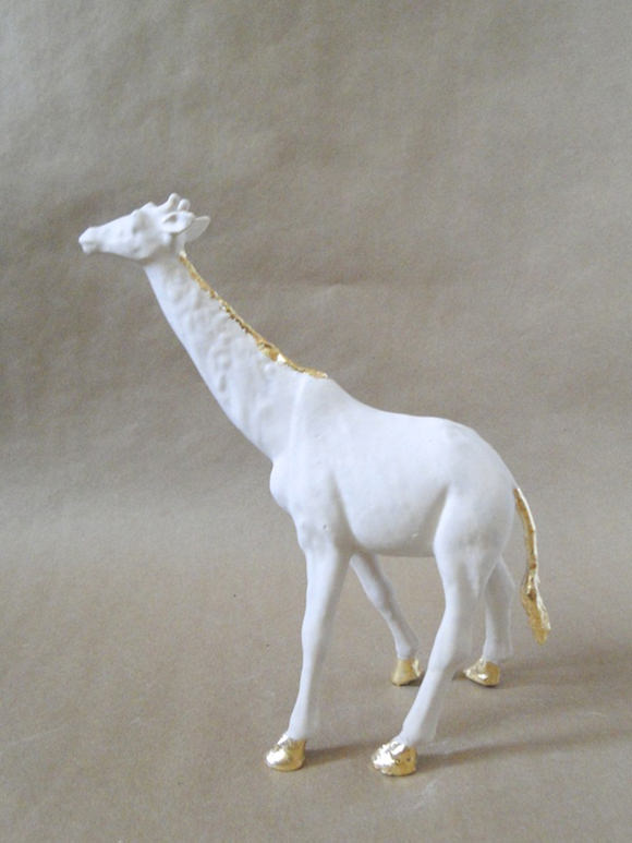 DIY Gilded Ceramic Animal