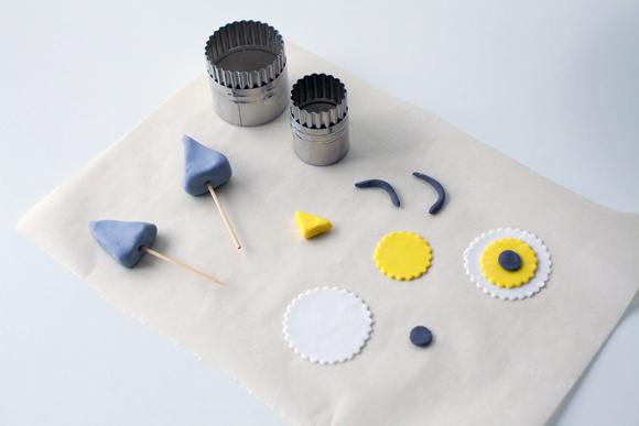 how to make gray fondant