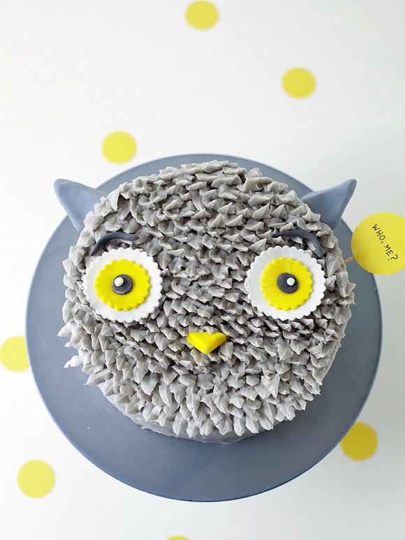 Remarkable Diy Gray Owl Cake Decorating Tutorial Handmade Charlotte Funny Birthday Cards Online Drosicarndamsfinfo