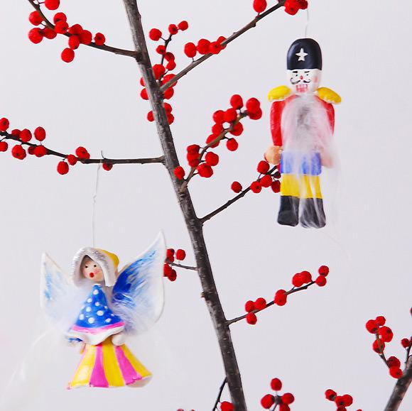 DIY Clay Nutcracker & Angel Ornaments