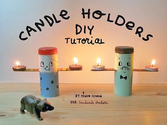 Diy Folksy Tea Light Candle Holders Handmade Charlotte
