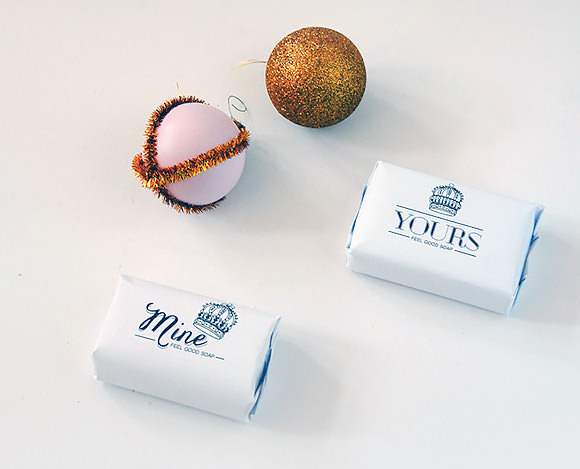 DIY Printable Yours & Mine Soap Wrappers (a perfect last-minute hostess gift)