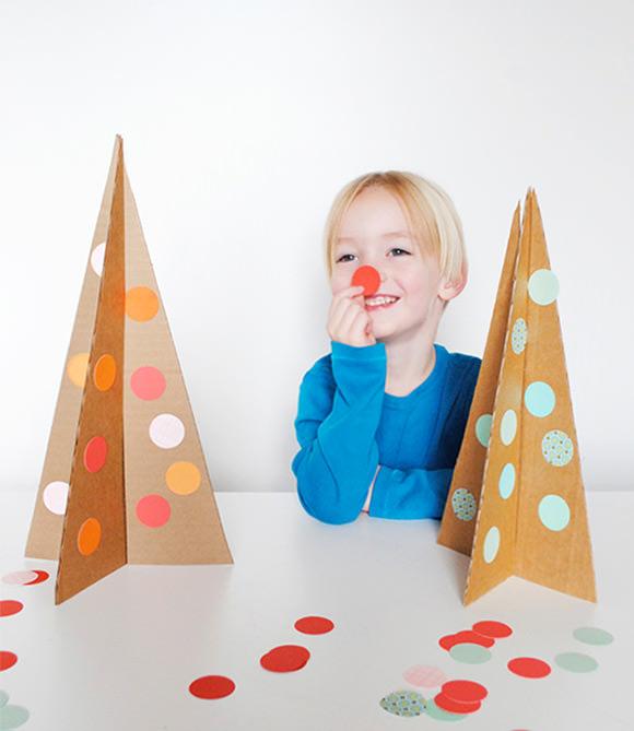 Easy DIY Cardboard Christmas Trees