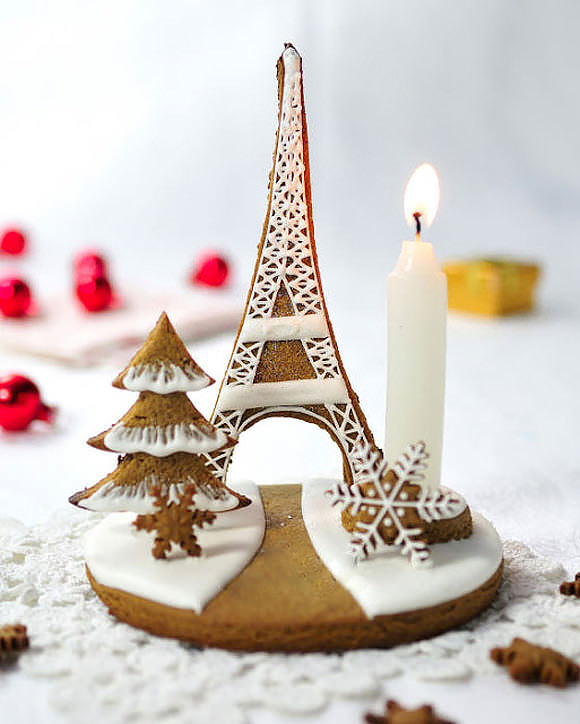 Eiffel Tower Gingerbread Centerpiece