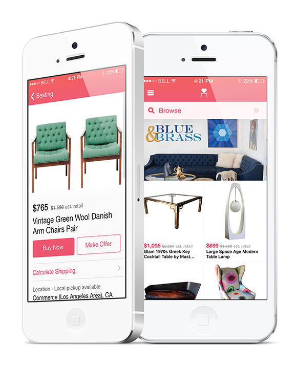 Chairish iPhone App - buy/sell vintage home decor