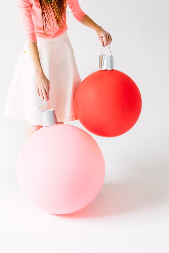DIY Giant Ornament Balloons via Studio DIY