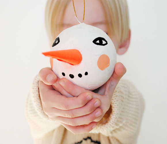 DIY Snowman Ornament via Mer Mag