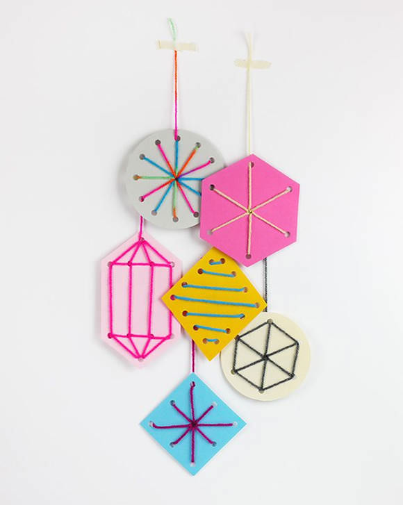 DIY Holiday Sewing Card Template Ornaments