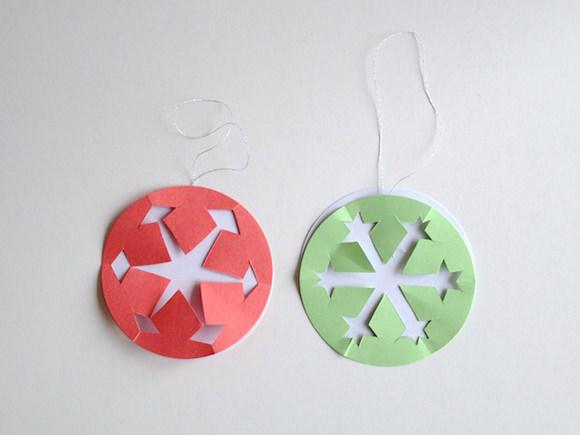 DIY Paper Snowflake Ornaments