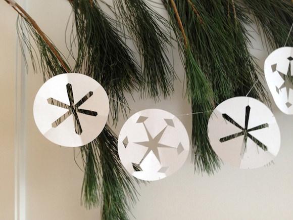 DIY Paper Snowflake Garland