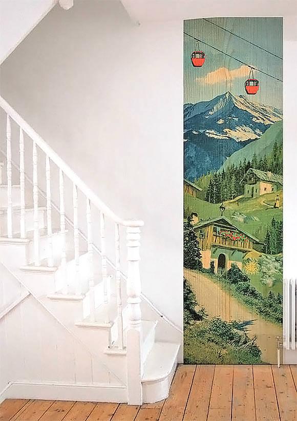 Mon Beau Pays Wallpaper Strip (fun for a kid's room)