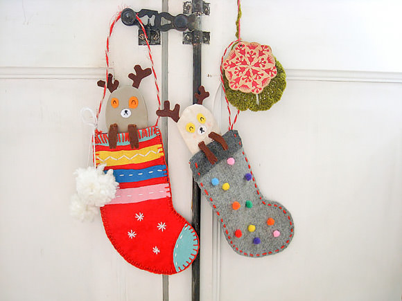 DIY Christmas Reindeer Stockings