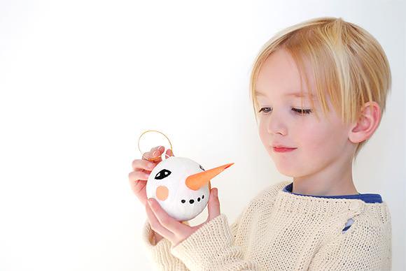 DIY Snowman Ornament via Mer Mag