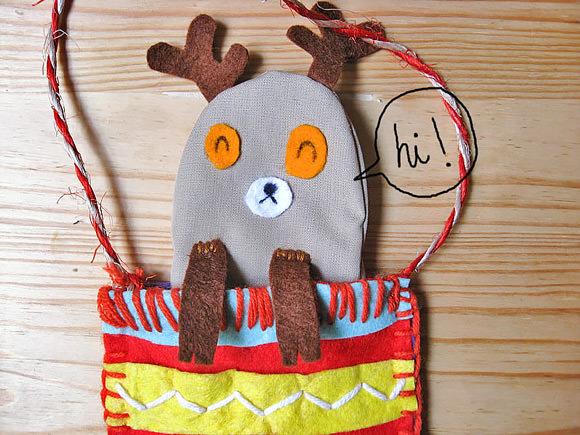 DIY Christmas Reindeer Stockings
