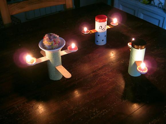 DIY Tea Light Candleholders