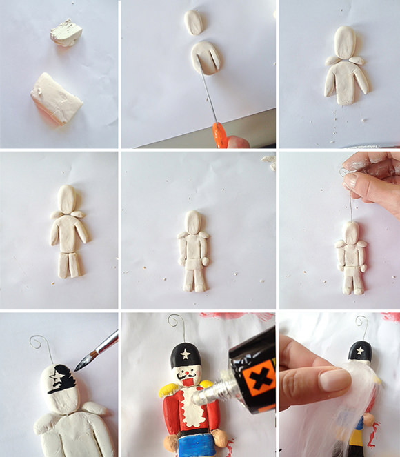 diy clay nutcracker angel ornaments handmade charlotte