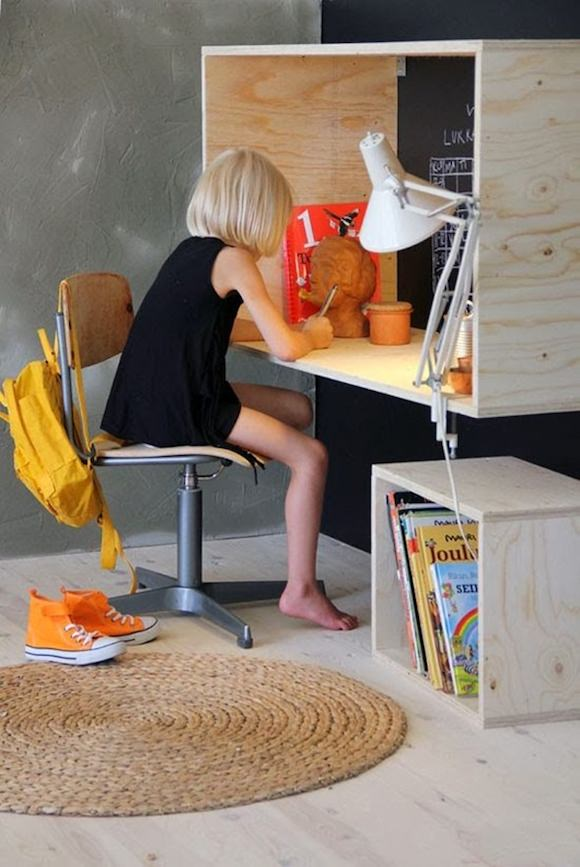 Plywood Desk for Kids