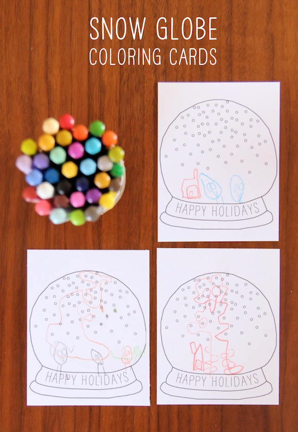 DIY Printable Snow Globe Holiday Card