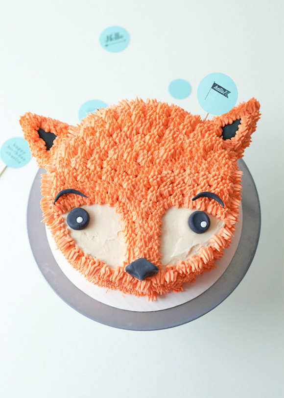 DIY Fox Cake Decorating Tutorial