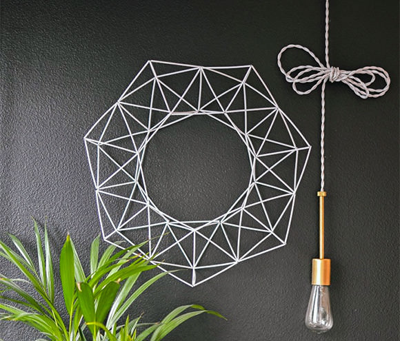 diy geometric wreath - Diy Decor
