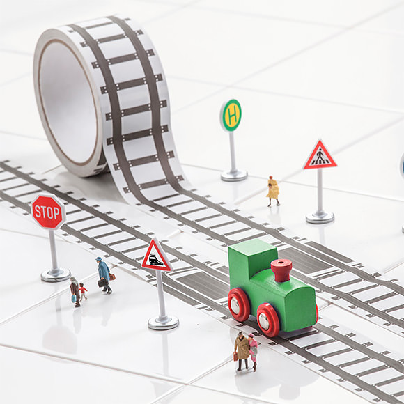 Railroad Tape - instant track for your toy trains!
