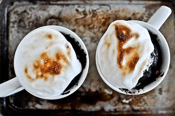 5 Minute Chocolate Fudge Smore's Mug Cakes