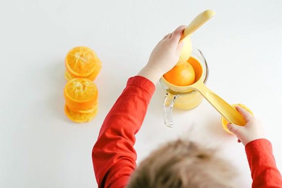 Orange Dreamsicle Ice Cream Recipe (made from snow!)