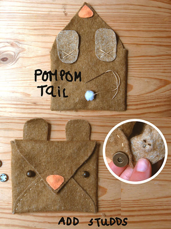 DIY 3-Minute Animal Pouches