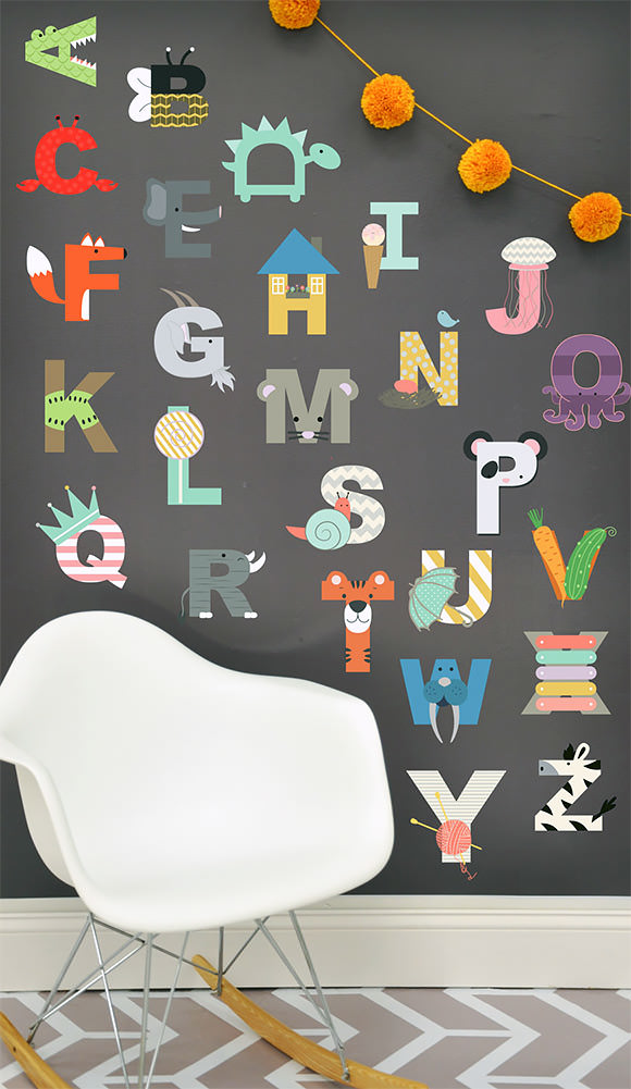 Interactive Alphabet Wall Decal for Kids (via Etsy)