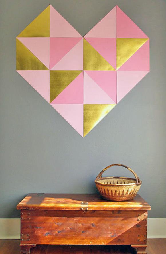 DIY Giant Geometric Wall Heart