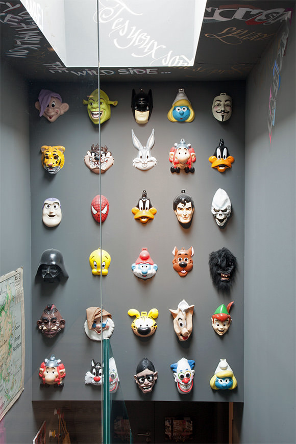 Playful Mask Collection (great idea for wall art in a kid's room)