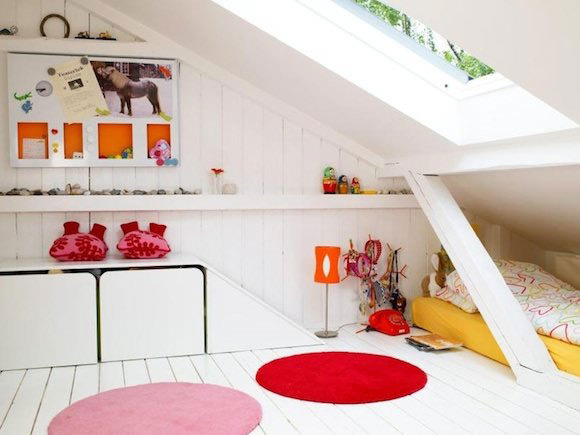 12 Ideas For Attic Kids Rooms ⋆ Handmade Charlotte