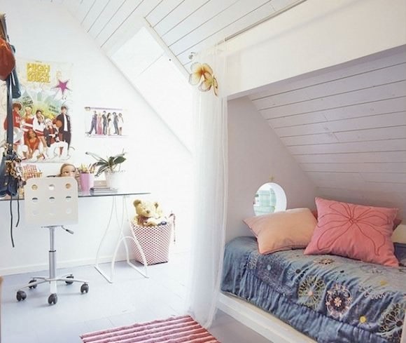 Bedroom Color Palette Ideas: 12 Ideas For Attic Kids' Rooms