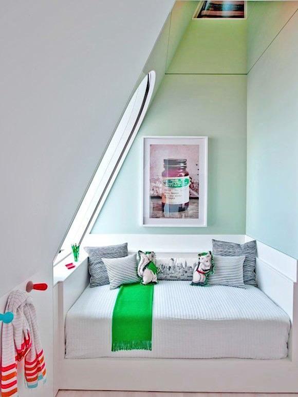 kid's room in attic loft of manhattan penthouse