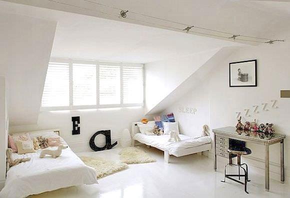 Shared Kid\u0027s Room in Attic & 12 Ideas For Attic Kids\u0027 Rooms ⋆ Handmade Charlotte