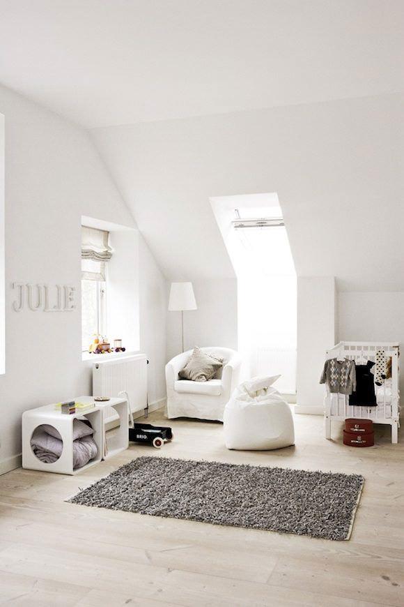swedish attic nursery